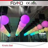 Free shipping Hot Sell dmx winch led kinetic lighting,led kinetic lighting system , color led disco ball 1piece