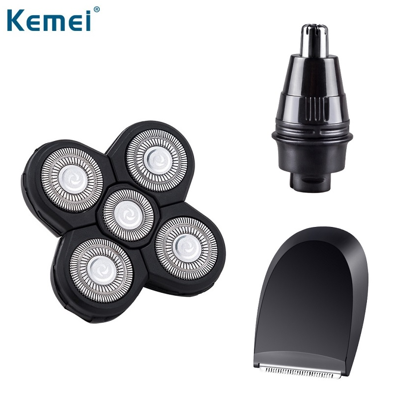 Original Kemei KM-5886 Replacement Electric Shaver Washable 5D Floating Cutter Head Sideburns Nose Trimmer Head