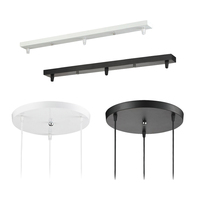 Pendant Lamp Accessory 3 lamps bar Round Ceiling Mounted Plate Canopy Customize for Pendant lights hanglamp
