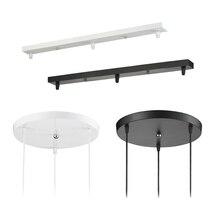 จี้อุปกรณ์เสริมโคมไฟ 3 โคมไฟบาร์รอบเพดานติดตั้งแผ่น Canopy ปรับแต่งสำหรับจี้ไฟ hanglamp
