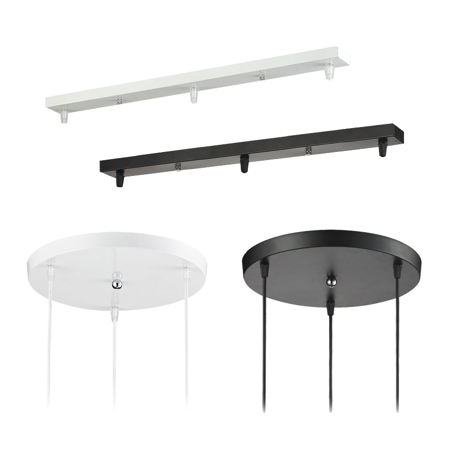 Pendant Lamp Accessory 3 lamps bar Round Ceiling Mounted ...