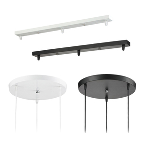 Pendant Lamp Accessory 3 lamps bar Round Ceiling Mounted Plate Canopy Customize for Pendant lights hanglamp(China)