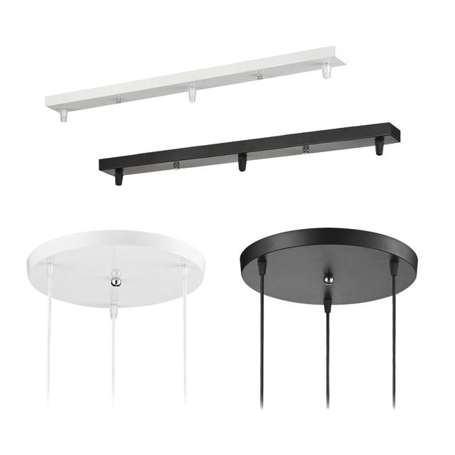 Pendentif Lampe Accessoire 3 lampes bar Ronde Plafond Monté Plaque Couvert Personnaliser pour Pendentif lumières hanglamp