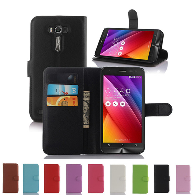 Wallet Style PU Leather Case For ASUS ZenFone 2 Laser ZE550KL ZE551KL Z00LD 5.5 Inch with Stand Function and Card Holder Case