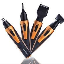 Электрический триммер для носа уха для бритья висков машинка для бритья бритва для бритья бороды для мужчин 4 в 1 машинка для стрижки нариса 50 шт
