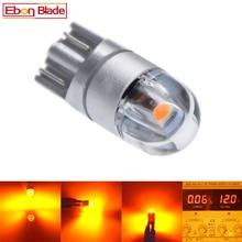 2/4 Uds. Bombilla LED T10 W5W 5w5 3030 SMD t 10 168, accesorios para coche, luz de lectura, luz de despacho, lámpara de coche 12V, ámbar, amarillo, naranja, Motor