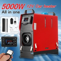 All In One 5000W Air diesels Parking Heater 5KW 12V Car Heater For Trucks Motor Homes Boats Bus +LCD key Switch +Remote Control