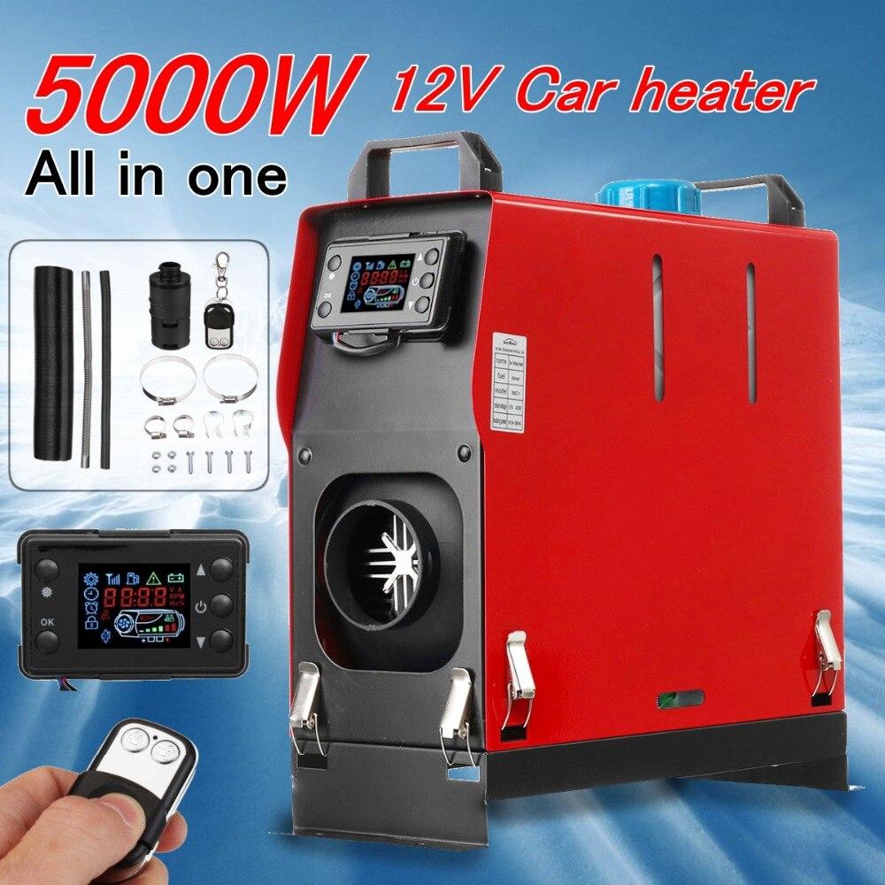 Tudo Em Um 5000 W Aquecedor Do Carro Ar diesel Aquecedor de Estacionamento 5KW 12 V Para Caminhões Barcos de Motor-Casas + Bus LCD chave Interruptor de Controle Remoto +