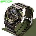 Sanda Moda Casual Reloj Militar Mens Relojes A Prueba de agua A Prueba de agua Reloj Deportivo Digital Reloj Relogio masculino