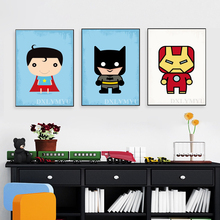 Super Hero Bat Man Wall Art Diy Diamond Painting Canvas Prints Full 5d Embroidery Mosaic Crafts for Children