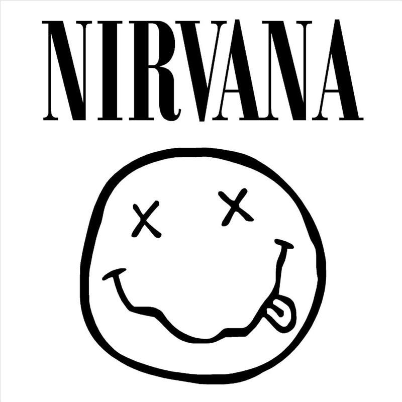 nirvana coloring pages   Removable DIY Wall Stickers NIRVANA LOGO BAND FACE KURT ...
