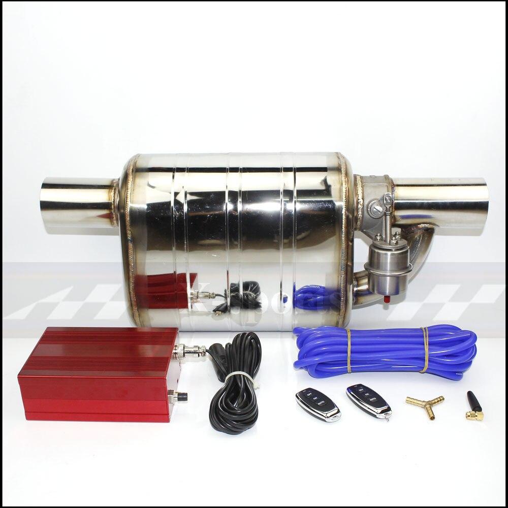 Tuyau d'échappement de voiture pompe à vide vanne Variable silencieux télécommande en acier inoxydable ID universel 51mm 63mm 76mm bord de soudure