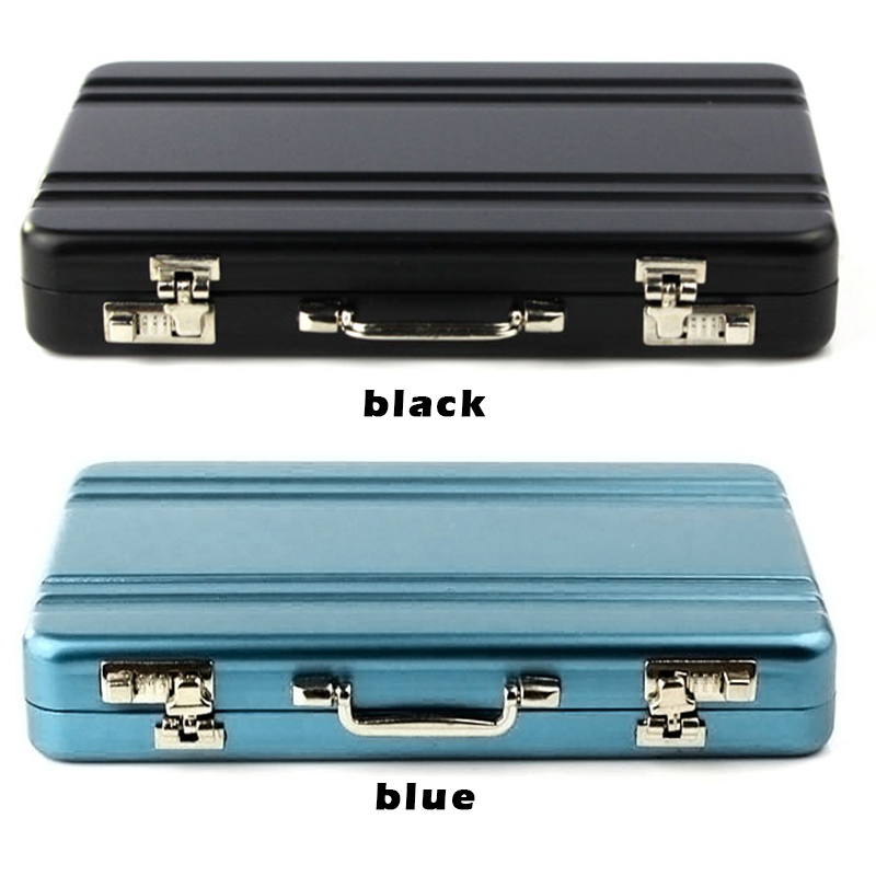 NEW card case box mini suitcase shaped design aluminum business ...