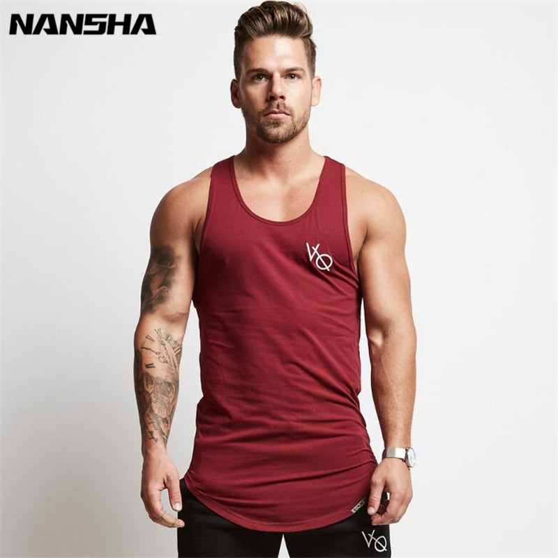 Mens Sleeveless   Tank     Tops   Summer Print VQ Cotton Male   Tank     Tops   Gyms Clothing Bodybuilding Undershirt Golds Fitness   Tank     Tops