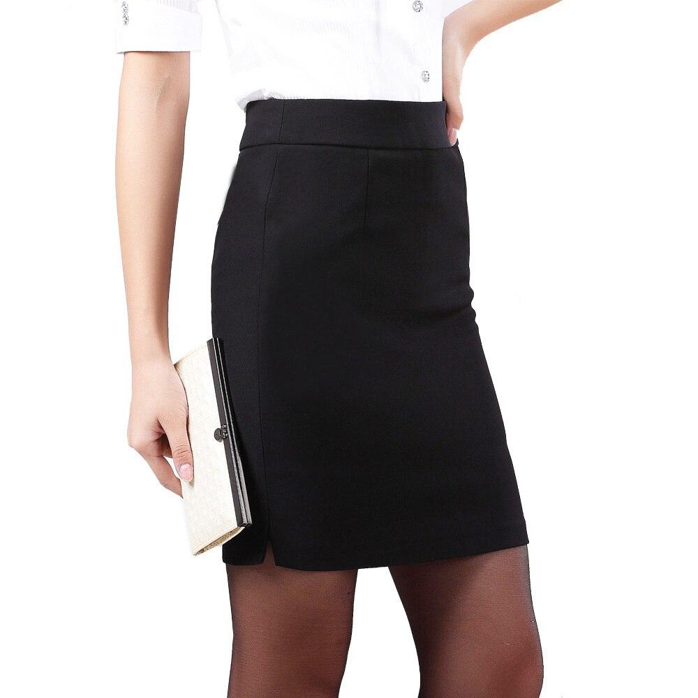 Summer High Waist Black pencil skirt plus size mini skirt S M L XL ...