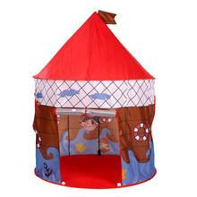 Lipat Anak Bertema Bajak Laut Bermain Rumah Indoor Outdoor Pop Up Tenda Mainan(China)