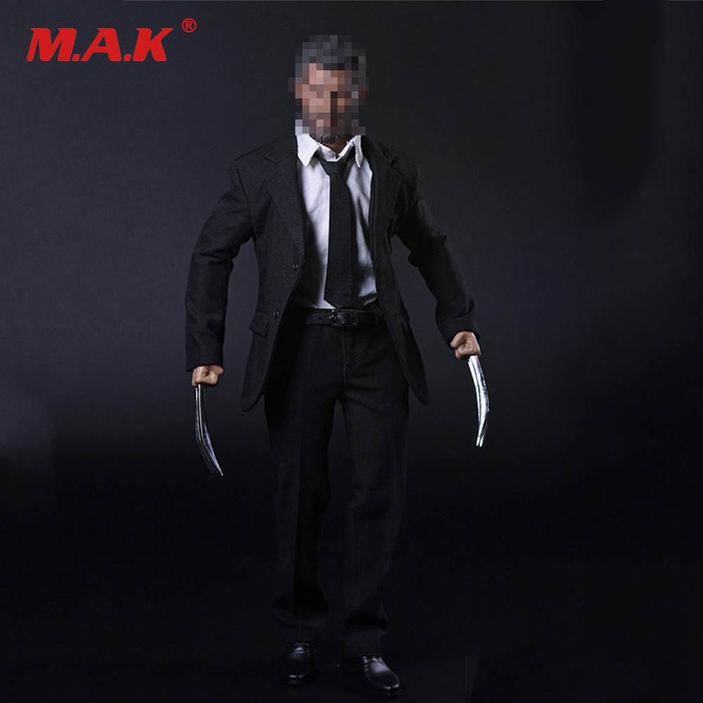 1/6 Wolverine Old Logan Suit & Shoes & Claws Clothes Set Hugh Jackman Head Sculpt Body 12 inches DIY Action Figures