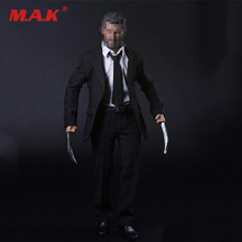 1/6 Wolverine Old Logan Suit & Shoes & Claws Set Hugh Jackman Head Sculpt Body 12 inches DIY Action Figures marvel legends custom 6 action figure old logan hugh jackman x men wolverine 1 12 head