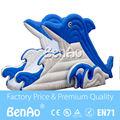 L007 Envío gratis delfín gigante tobogán inflable/tobogán inflable gigante para los niños/barato tobogán inflable venta