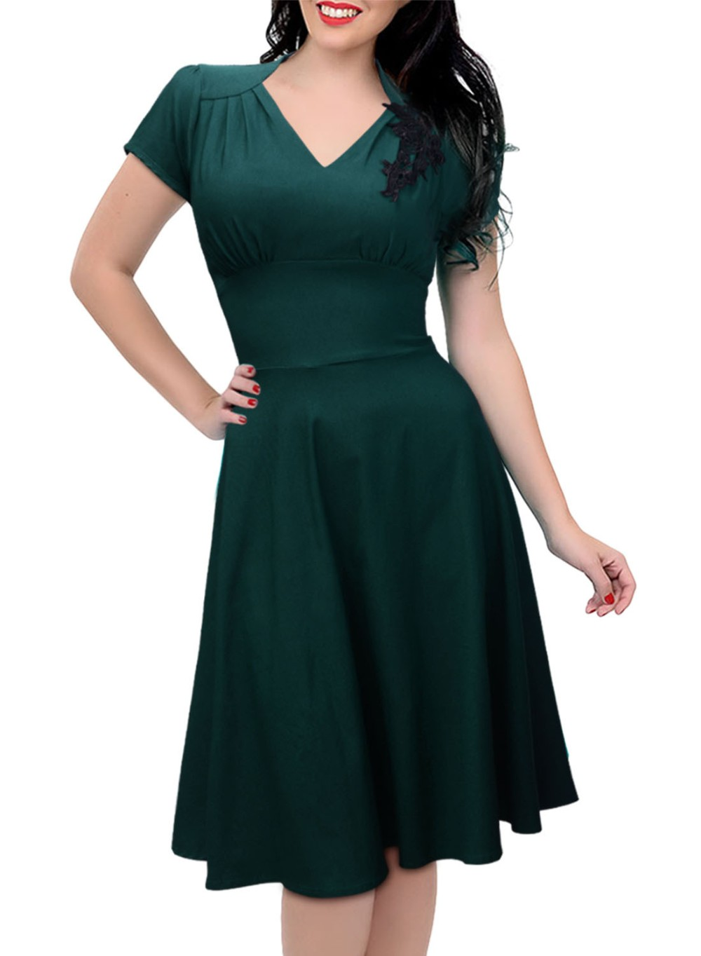 Short Dark Green Dress Promotion-Shop for Promotional Short Dark ...