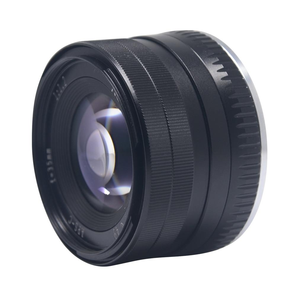 Objectif de mise au point fixe sans miroir Mcoplus 35mm f1.2 Prime manuel pour sony alpha e-mount A6500 A6300 A7 A7III/pour Fuji x-mount X-T20