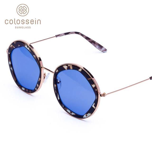COLOSSEIN Classic Sunglasses Women Fashion Formal Vintage Sunglasses Personality Clamshell Glasses Metal Punk Sunglasses UV400 4