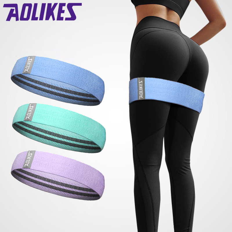 The New Unisex Booty Band Hip Circle Loop Resistance Band Workout Exercise for Legs Thigh Glute Butt Squat Non-slip Bands