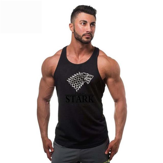 New brand Stark Game of Thrones Men T-shirt vest animal tank top tshirt sleeveless men workout tops for men gyms tank tops
