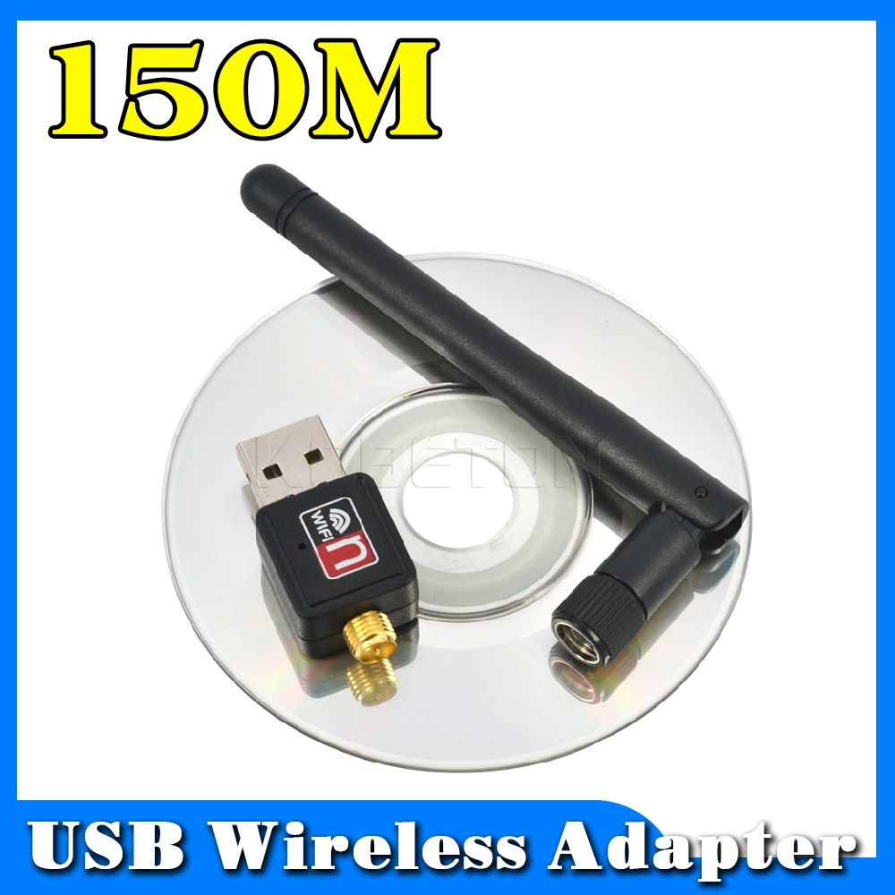 150Mbps MT7601 Wireless WiFi Adapter 2dB Wifi Antenna Lan Wireless Network Card Portable USB WiFi Receiver Adaptador 802.11b/g/n