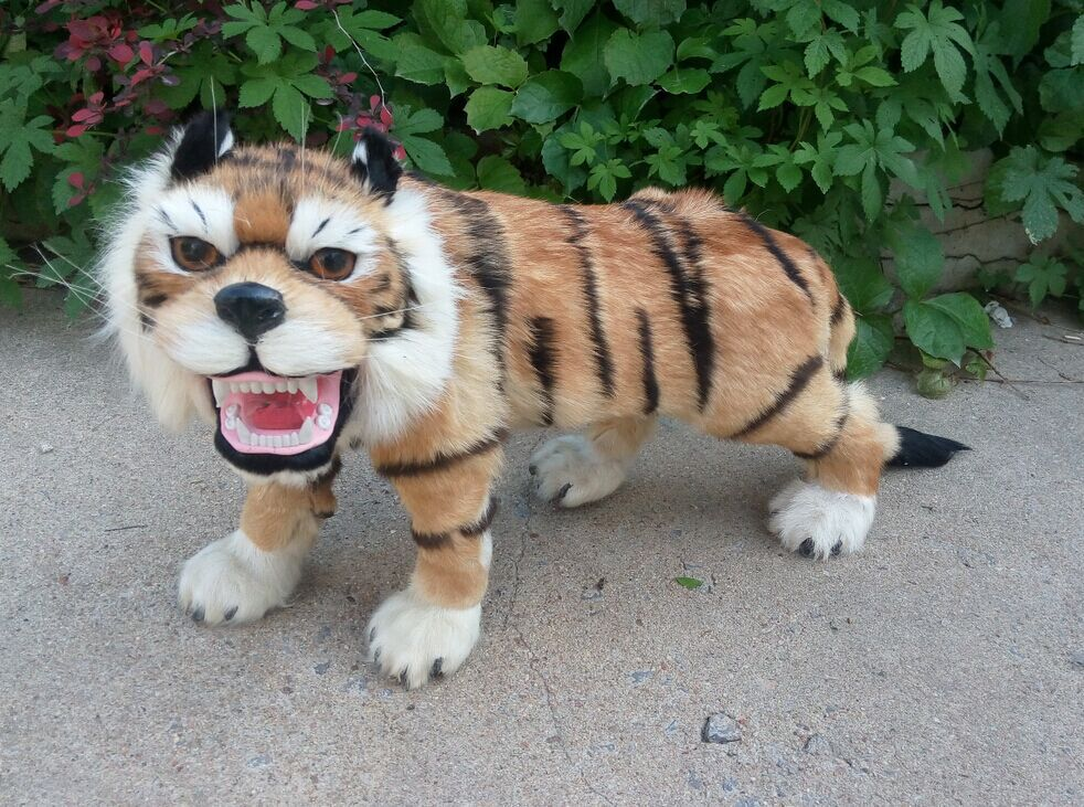 big Simulation tiger toy polyethylene furs walking tiger model gift about 60x36cm y0271