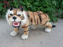 big Simulation tiger toy polyethylene&furs walking tiger model gift about 60x36cm y0271