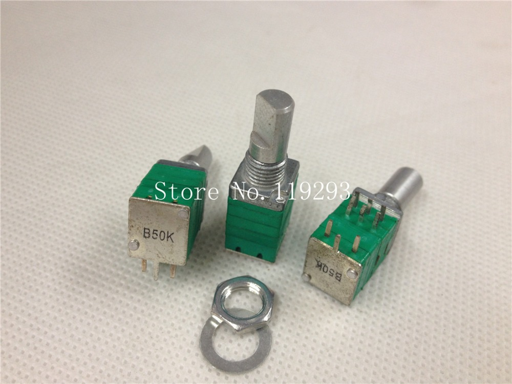 [BELLA]Taiwan- precision potentiometer with switch double B50K sealed stereo volume pote ...