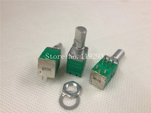 [BELLA]Taiwan- precision potentiometer with switch double B50K sealed stereo volume potentiometer axle 15MM–10PCS/LOT