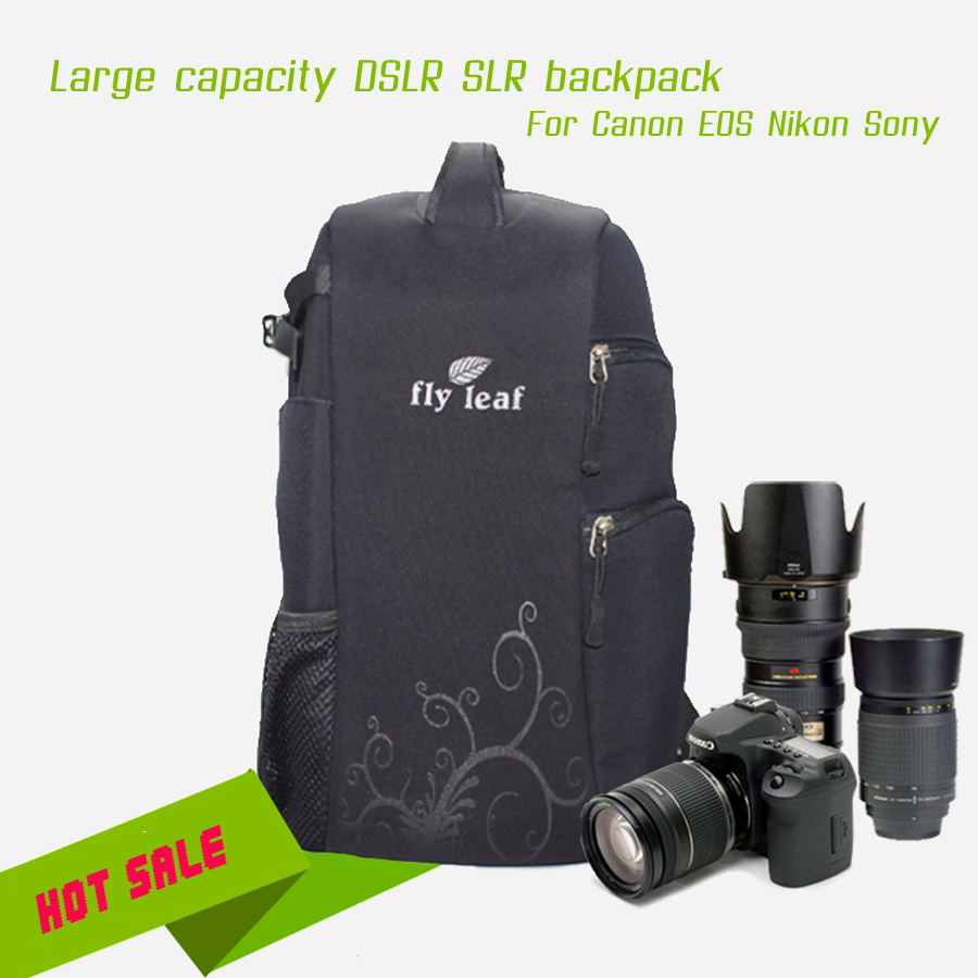 DHL FREE Professional Large Capacity DSLR SLR Shockproof Nylon Waterproof Camera Bag Backpack Travel Bag For Canon Nikon Sony multifunctional slr dslr shockproof waterproof camera rucksack backpack travel bag for canon eos 100d nikon d3100 d3200 d3300