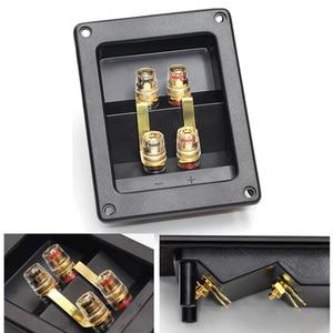 Image 2 - 1 조각 순수 구리 터미널 컵 바나나 잭 소켓 바인딩 포스트 바나나 플러그 커넥터 박스 레드 + 블랙