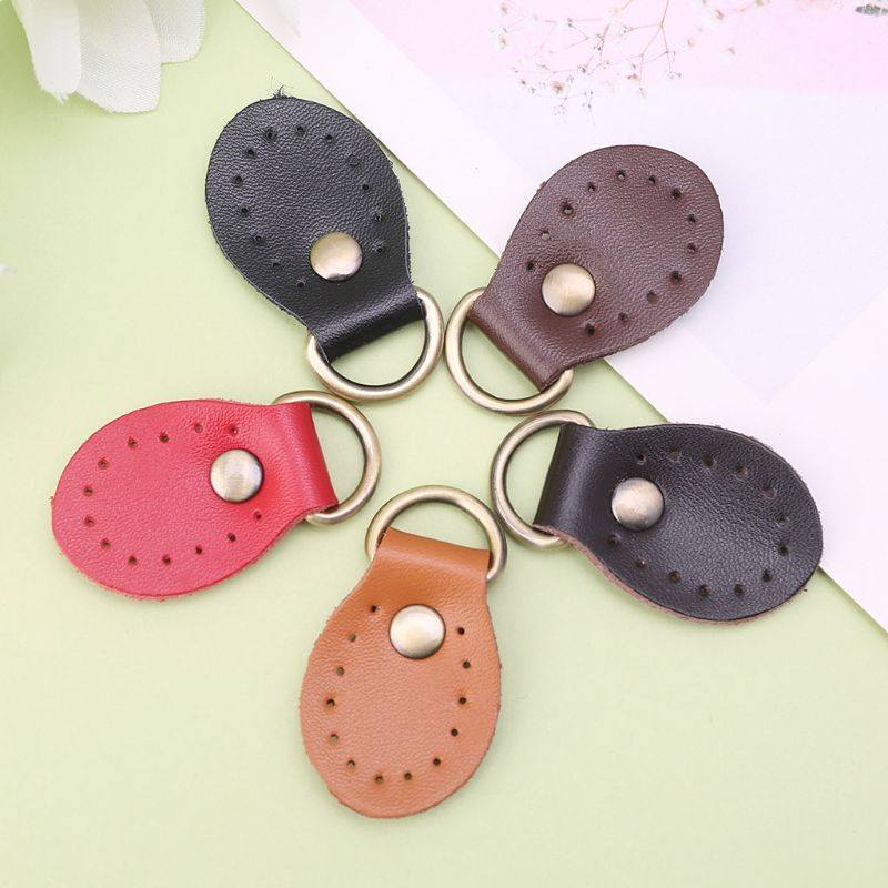 4pcs Fashion Leather Handmade Buckle Replacement For DIY Handbag Shoulder Bag Backpack Block Lock Accessories KZ0034