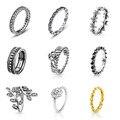 Нинбо Pandora Аутентичные 100% Стерлингового Серебра 925 кольцо с Кристаллом цветок Партия и Свадебные Кольца Fit Женщины Пан Ювелирные Изделия 9 стиль