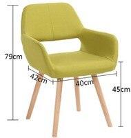 Современный обеденный стул со спинкой, повседневный деревянный стул, стулья для совещаний