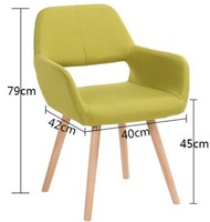 modern backrest dining chair casual wood chair conference meeting chairs