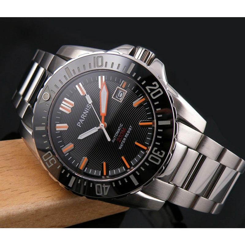Parnis Automatic Mechanical Diver Men Watch Waterproof 200m Metal Men s Watches Sapphire Glass relojes para