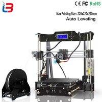 High Precision 3D printer Reprap Prusa i3 j head hotend bowden 3D Printer DIY kit with 1 Roll Filament 8GB SD card 3d printer