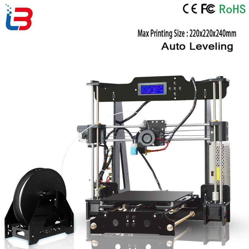 Imprimante 3D haute précision Reprap Prusa i3 j-head hotend bowden imprimante 3D kit de bricolage avec 1 rouleau Filament 8GB carte SD imprimante 3d