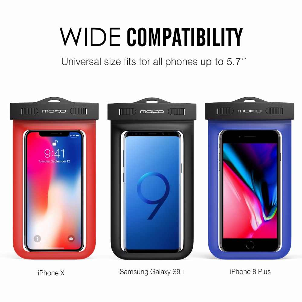 b24b6587240 ... Universal del teléfono caso moKo multifunción teléfono celular bolsa  con brazalete característica y correa para el ...