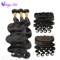 Brazilian Body Wave Ear To Ear Frontal With 3 Bundles Non Remy Hair Extension 8 28