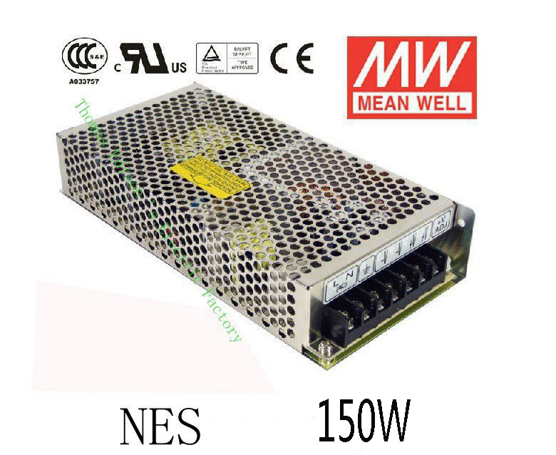 Original MEAN WELL power suply unit ac to dc power supply 150W 5V 12V 15V 24V 48V 26A 12.5A 10A 6.5A 3.3A MEANWELL meanwell 12v 150w ul certificated nes series switching power supply 85 264v ac to 12v dc