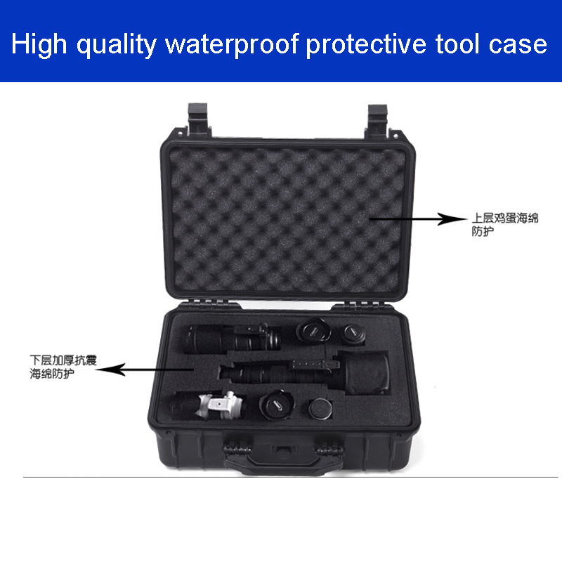 Waterproof  tool case camera box Studio photography box 208*144*92mm  Protective suitcase Instrument box  with pre-cut foam 5022Waterproof  tool case camera box Studio photography box 208*144*92mm  Protective suitcase Instrument box  with pre-cut foam 5022