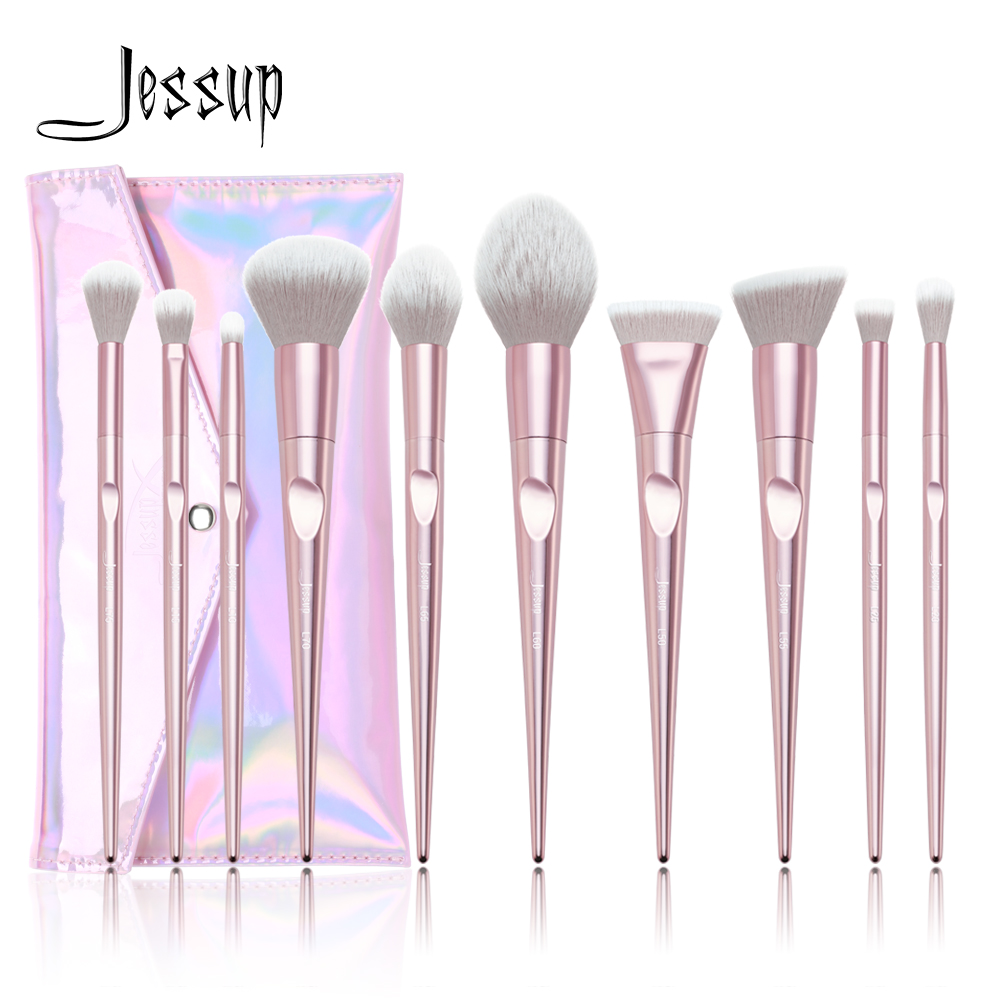 2018 New Jessup Makeup Brushes Set Summer pincel maquiagem profissional completa eyelashes eyeshadow Cosmetic bag T260&CB003