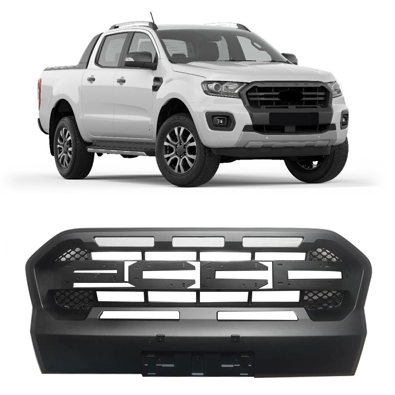 Latest Collection Of Fit For Ranger T6 Xlt 2012-2015 Exterior Auto Accessories Led Modified Front Racing Grills Abs Grill Mesh Mask Trims Cover Auto Replacement Parts Exterior Parts