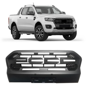 EXTERIOR AUTO ACCESSORIES MODIFIED FRONT MESH MASK TRIMS COVER ABS GRILL GRILLS FIT FOR RANGER T8 XLT GRILLE 2018 2019 image
