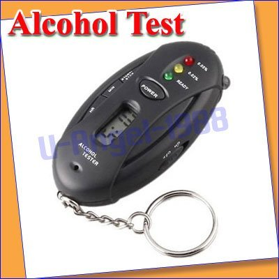 Free shipping!  New Alcohol test Digital LCD Breathalyzer Alcohol Test Tester Flashlight